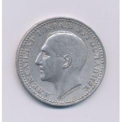 Yougoslavie - 50 Dinara - 1932 - Alexandre 1er - Belgrade - argent - TTB