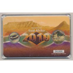 Afrique du sud - Coffret Coupe du monde 2010 - 5 Rand + Médaille  Johannesburg
