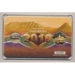 Afrique du sud - Coffret Coupe du monde 2010 - 5 Rand + Médaille Polokwane Museum - 50.000 ex