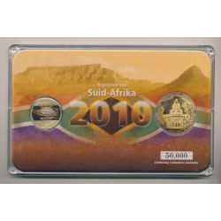 Afrique du sud - Coffret Coupe du monde 2010 - 5 Rand + Médaille Durban City hall - 50.000 ex