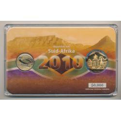 5 Rand + Médaille Rustenburg Town hall - Coffret Coupe du monde Afrique du Sud 2010