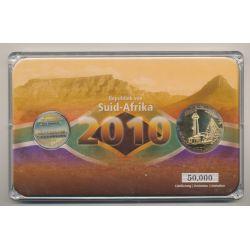 5 Rand + Médaille Port Elisabeth - Coffret Coupe du monde Afrique du Sud 2010