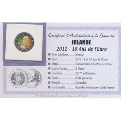 2 Euro couleur - Irlande - 10 ans euro - 2012