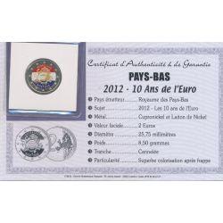 2 Euro couleur - Pays-Bas - 10 ans euro - 2012