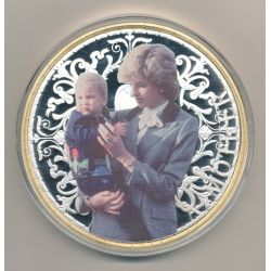 Médaille - Lady Diana a mother N°2 - couleur - 100mm