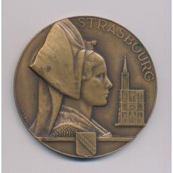 Médaille - Strasbourg - 1918/1944 - Gouraud/Leclerc - bronze - 68mm - Morlon