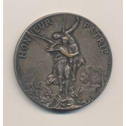 Médaille - Société de tir - Honneur et patrie - bronze argenté - 45mm