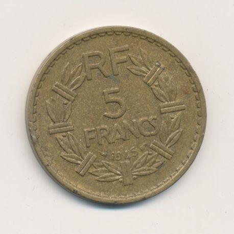 5 Francs Lavrillier - 1945 - TTB