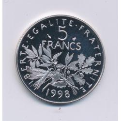 5 Francs Semeuse - 1998 - Belle épreuve