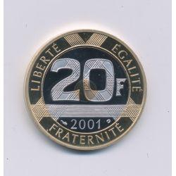 20 Francs Mont st michel - 2001 - Belle épreuve