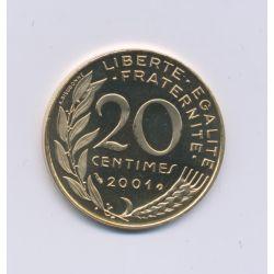 20 Centimes Marianne - 2001 - Belle épreuve