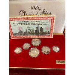 Singapour - Coffret 6 monnaies - 1986 - proof set
