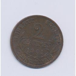 2 centimes Dupuis - 1901 - TTB+