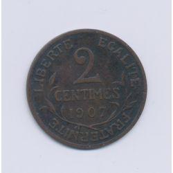 2 centimes Dupuis - 1907 - TTB
