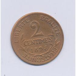 2 centimes Dupuis - 1898 - TTB