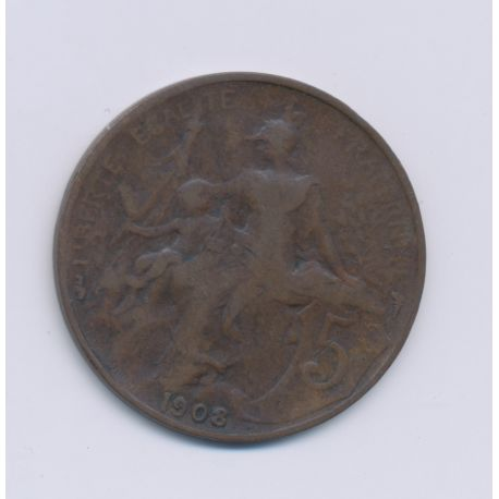 5 Centimes Dupuis - 1908 - TB - bronze