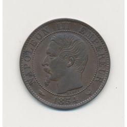 5 Centimes - 1854 W Lille - Napoléon III Tête nue - SUP+