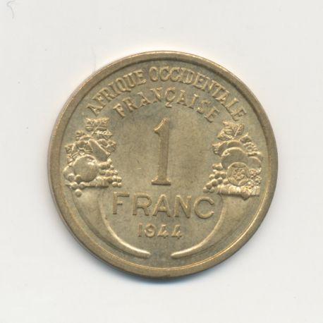Afrique occidentale Française - 1 Franc Morlon 1944 - SUP