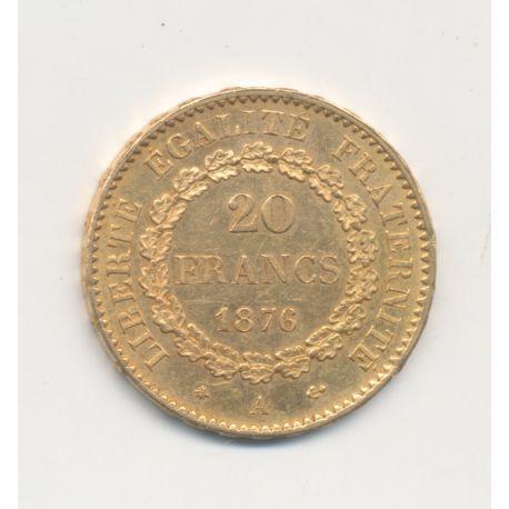 Génie - 20 Francs Or - 1876 A - TTB+