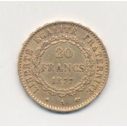 Génie - 20 Francs Or - 1877 A - TTB
