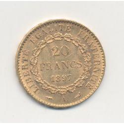 Génie - 20 Francs Or - 1897 A Paris - TTB+