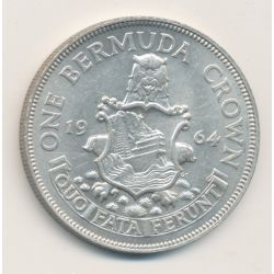 Bermudes - 1 Crown - 1964