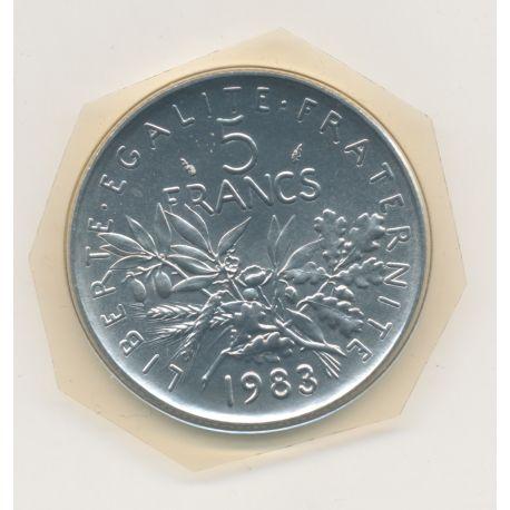 5 Francs Semeuse - 1983 - FDC