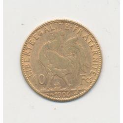 Coq/Marianne - 10 Francs Or - 1906 - TTB