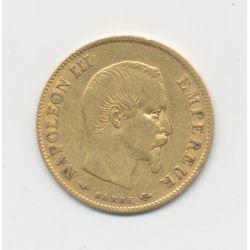Napoléon III Tête nue - 10 Francs Or - 1860 A Paris - grand module