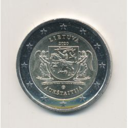 2€ Lituanie 2020 - la région d'Aukštaitija