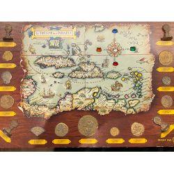 Plaquette - Le Trésor des Pirates - Reproduction d'un ensemble de monnaies complet - BP