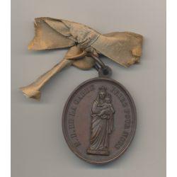 Médaille - Notre dame de la garde - Priez pour nous - bronze