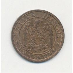 1 Centime Napoléon III - Tête nue - 1853 W Lille