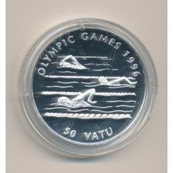 Vanuatu - 50 Vatu 1994 - Natation - Jeux Olympique 1996 - argent