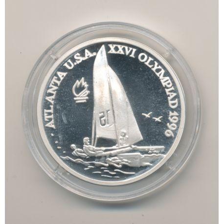 Roumanie - 100 Lei 1996 - voile - Jeux olympique 1996 - argent