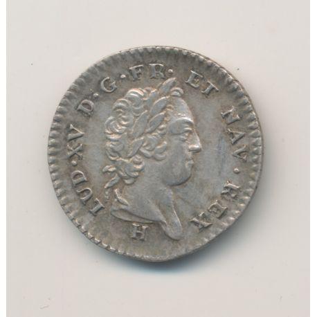 Isles du vent - 12 Sols - 1731 H La Rochelle - Type 4 - Louis XV - argent