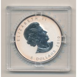 Canada - 5 Dollars 2010 - Mapple leaf - 1 once argent