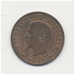 1 Centime Napoléon III - Tête nue - 1857 W Lille