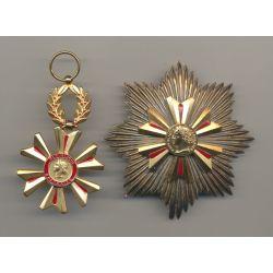 Médaille - Ordre du mérite du Sang - Plaque et étoile - bronze doré