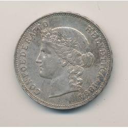 Suisse - 5 Francs - 1894 B Berne  - argent - TTB