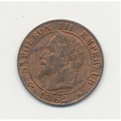 1 Centime Napoléon III - Tête laurée - 1862 BB Strasbourg