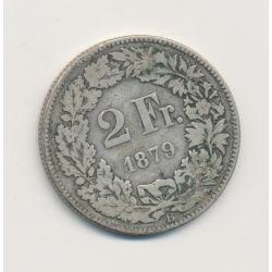 Suisse - 2 Francs - 1879 B Berne - argent - TB
