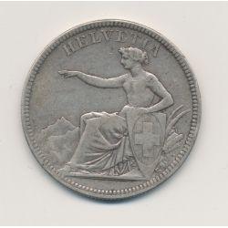 Suisse - 5 Francs - 1874 B. Bruxelles - argent - TB/TTB