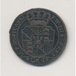 Suisse - 4 Kreuzer 1800 - Neuchatel - billon - TTB+