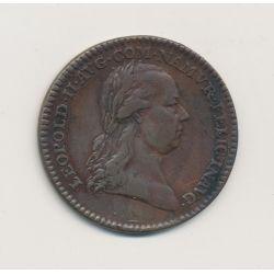 Belgique - Jeton Léopold II 1791 - Les armes de brabant - bronze - TTB