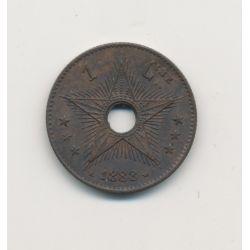 Belgique - 1 Centime 1888 - Léopold II - bronze - SUP+