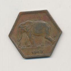 Congo Belge - 2 Francs 1943 - éléphant - Laiton - TTB