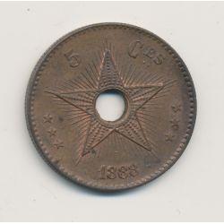 Congo Belge - 5 Centimes 1888 - bronze - SUP+