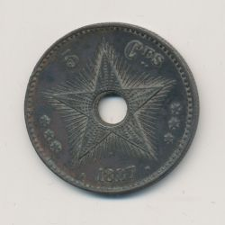 Congo Belge - 5 Centimes 1887 - bronze - TTB+