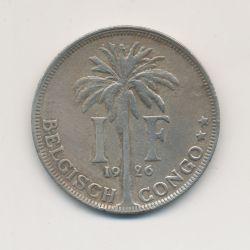 Congo Belge - 1 Franc 1926 - cupronickel - TTB